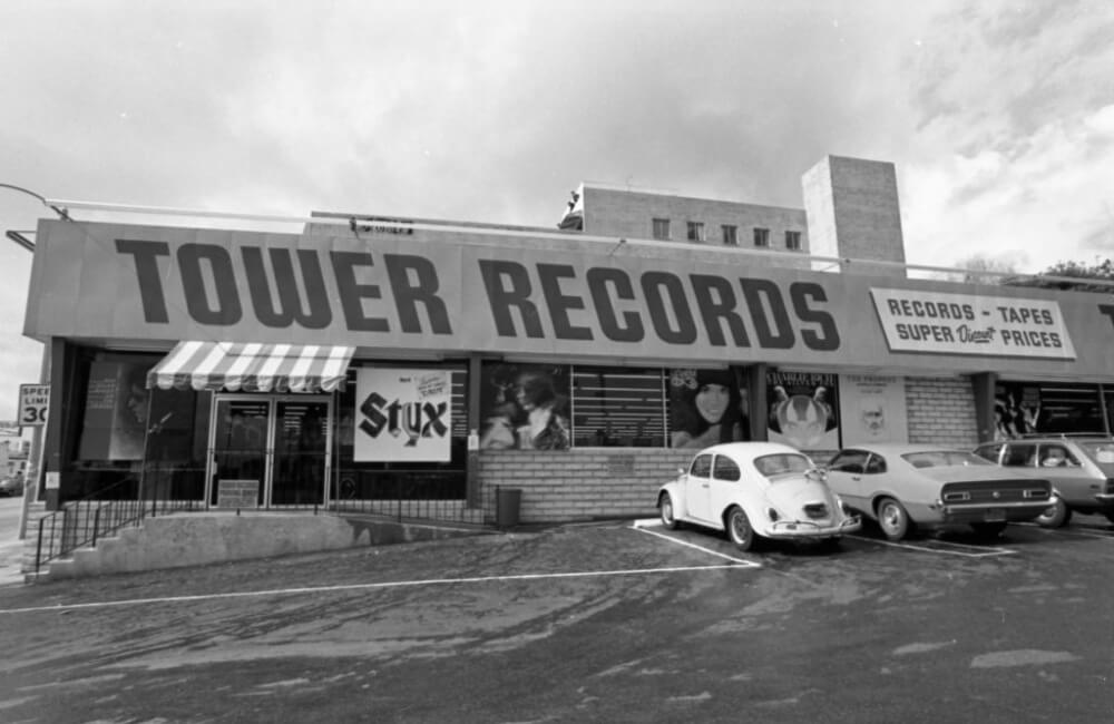 Tower Records 1974 ©Albert Moote/Getty Images