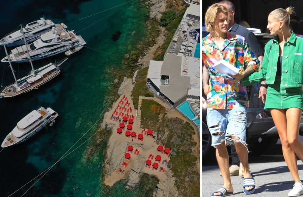 Mykonos, Cyclades, Greece / Shutterstock | Justin Bieber, Hailey Baldwin ©SMXRF/Star Max/GC Images/Getty