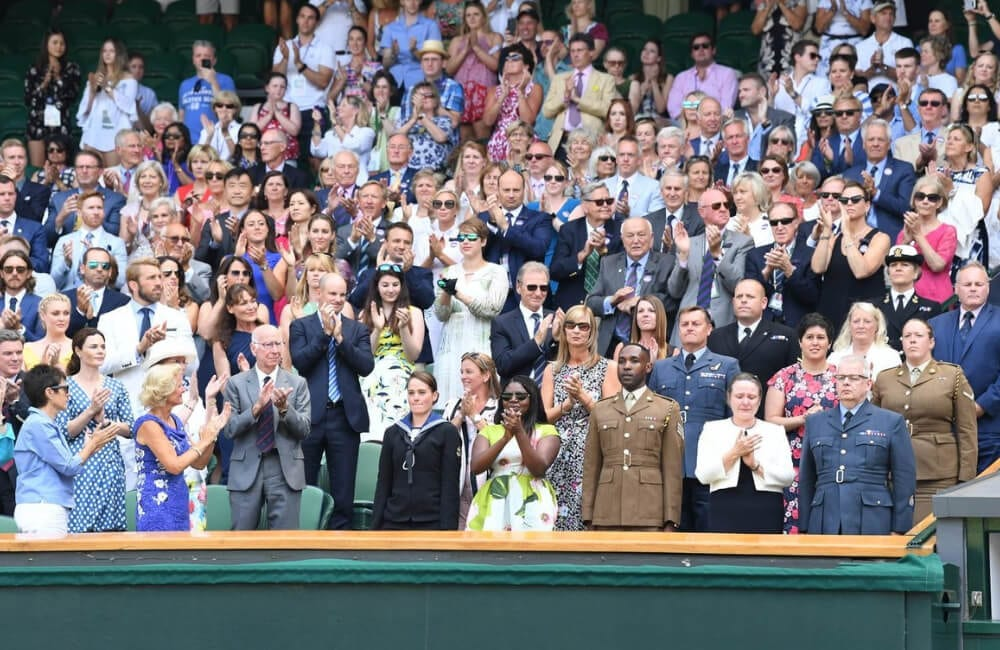 Front Row At Wimbledon