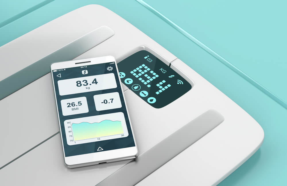 Smart weight scale ©Mile Atanasov/Shutterstock