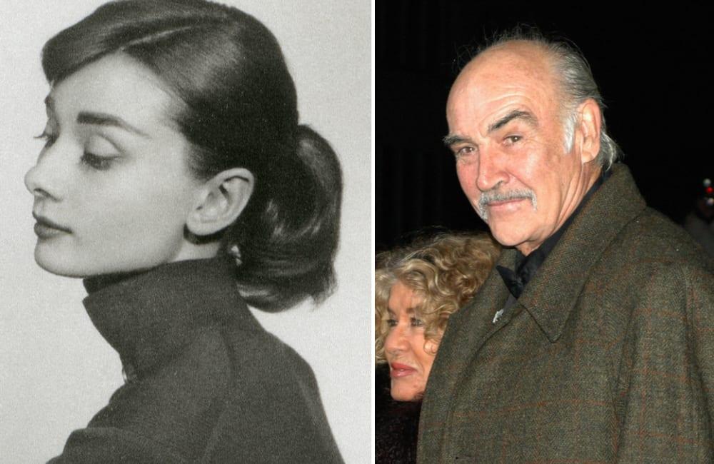 Audrey Hepburn @Olga Popova / Sean Connery © 360b   Shutterstock.com