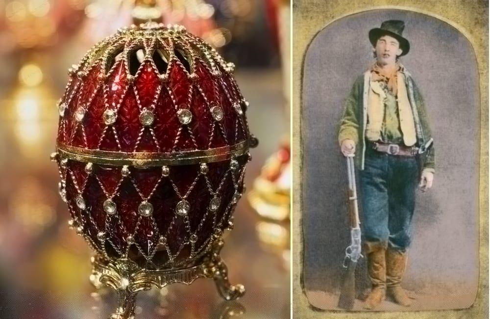 Fabergé egg © PhotoMik / Billy the Kid Photo © Everett Collection | Shutterstock.com