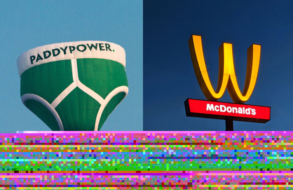 Paddy Power Underpants and Upside Down Arches @designboom / Twitter.com and @bingteam / Pinterest.com