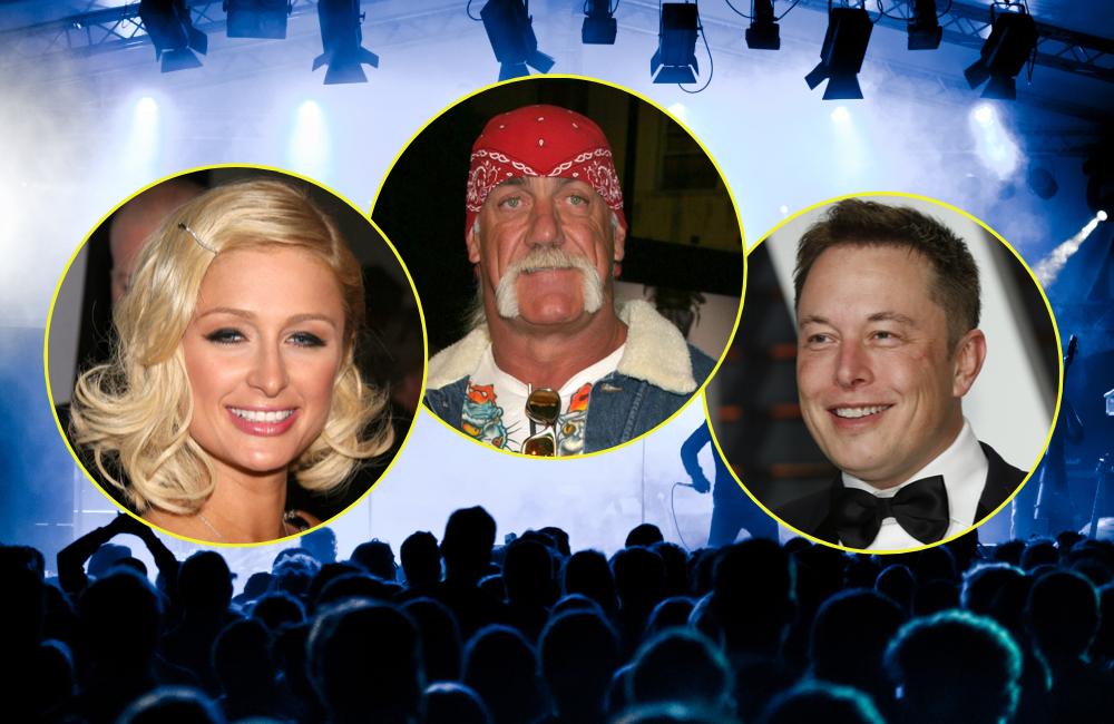 Paris Hilton, Hulk Hogan, Elon Musk © pcruciatti, Kathy Hutchins, carrie-nelson, s_bukley   Shutterstock.com