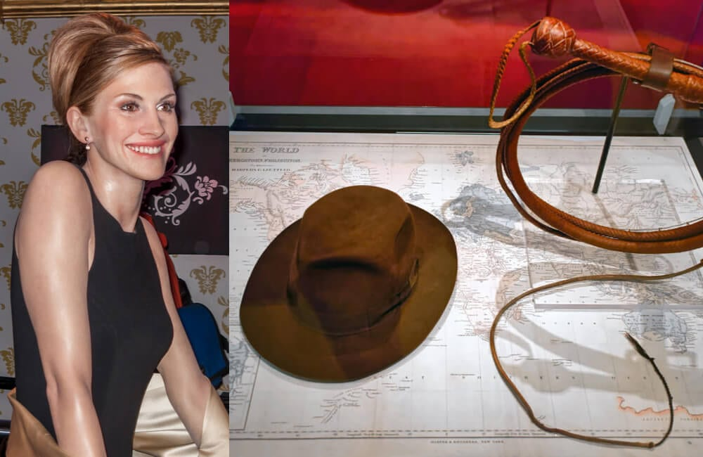 Julia Roberts @Dinoph and Indiana Jones Hat and Whip - both Shutterstock.com