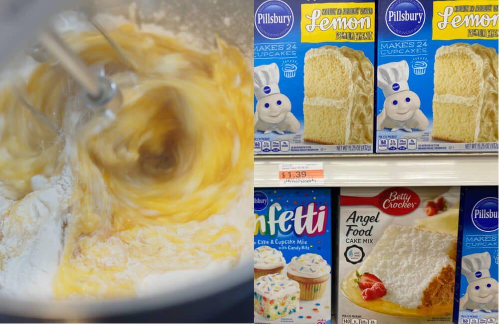 Cake Batter @HarryKiiM Stock and Cake Mix @melissamn / Shutterstock.com