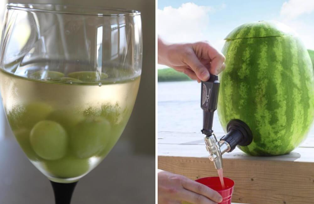 Grapes @LuluBWines/Facebook.com Watermelon @InsideTailgating/Facebook.com