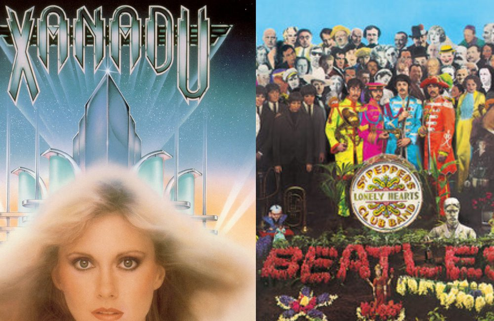 Xanadu @https://radioredhill.uk/ / Facebook.com and Sgt. Pepper's Lonely Hearts Club Band @Parlophone/EMI / Wikimedia Commons